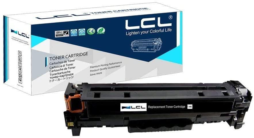 LCL Compatible Toner Cartridge Replacement for HP 202A CF500A CF500AK Color LaserJet Pro M254 M254dw 254NW Laser Jet Pro MFP M281dwM281CDW M281FDW M281FDN M280NW (1-Pack Black)