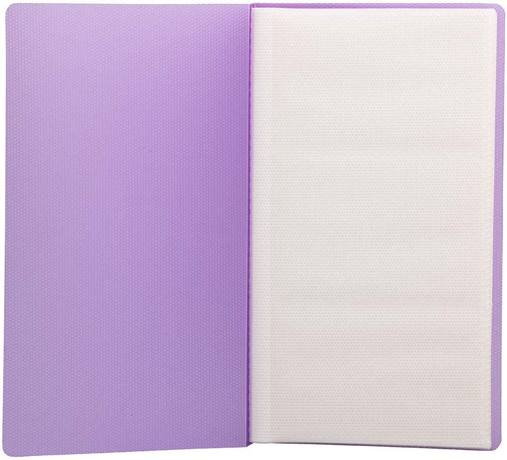 JAM PAPER Business Card Book - Wallet Size (4 x 7 1/4) - 72 Card Capacity - Purple - Sold Individually