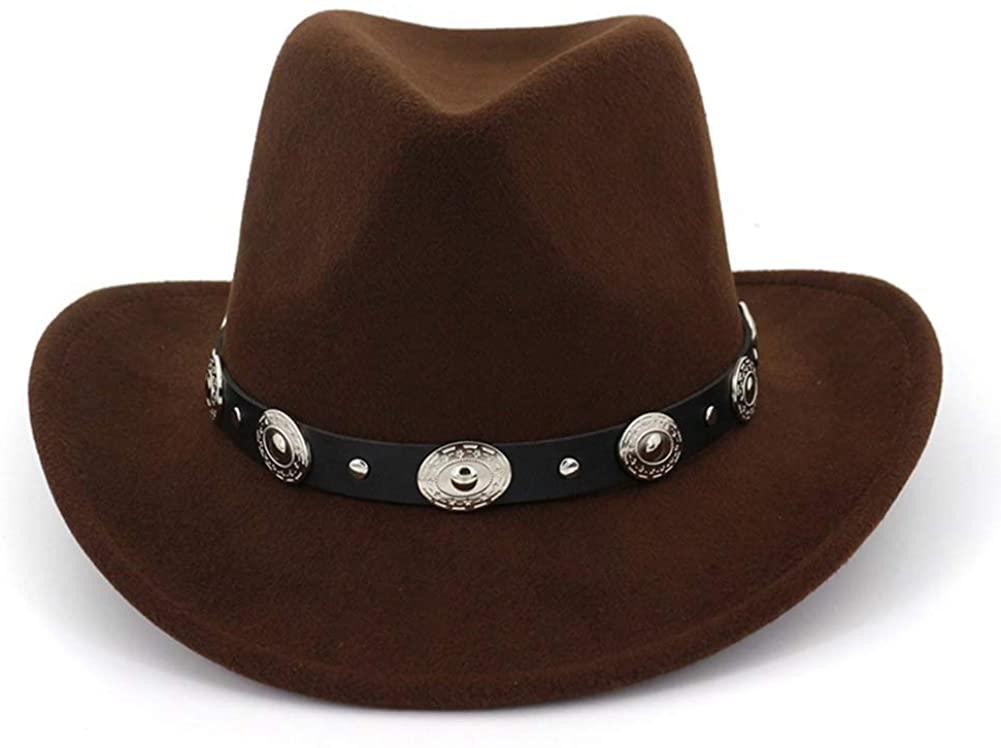 SANOMY Unisex Fashion Fedora Hat with Belt Wide Brim Jazz Hat Trilby Party Formal Hat
