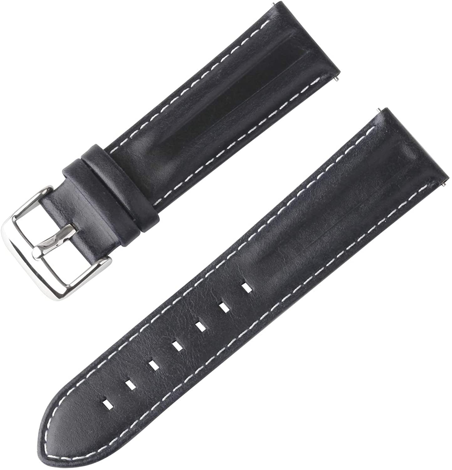 MIRDAUH Quick Release Indentation Vintage Genuine Leather Watch Bands Soft Leather Watch Strap for Men 22mm