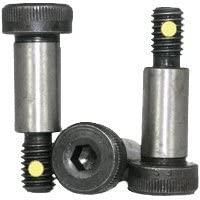 Socket Head Shoulder Screw, 1/4 inch x 1/2 inch, Heat Treated Alloy Steel, Black Oxide, 10-24 Thread Size (Quantity: 100 pcs), Shoulder Diameter: 1/4 inch, Shoulder Length: 0.5