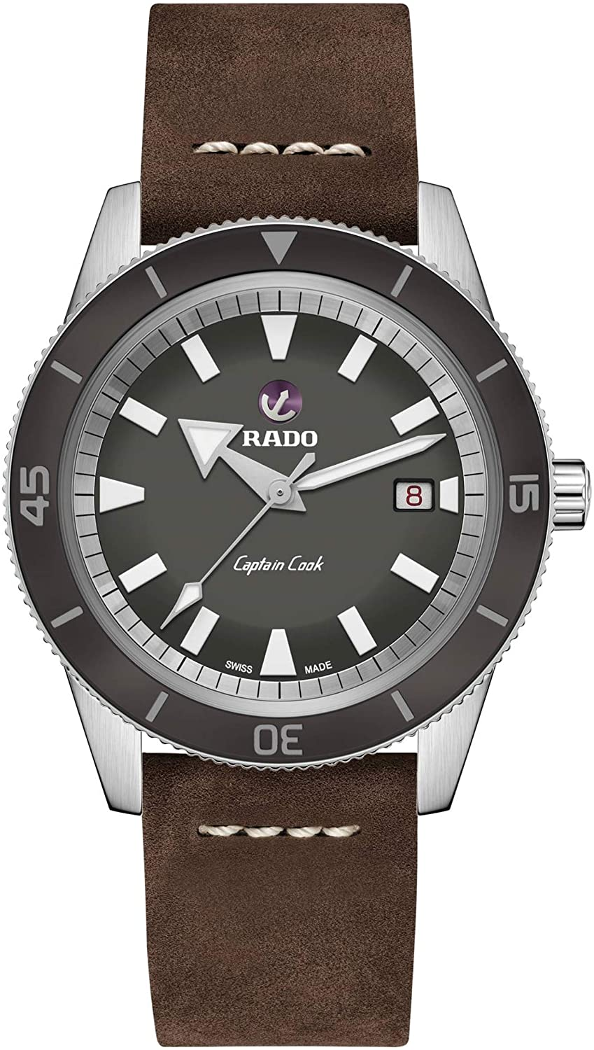 Rado Men's Captain Cook Leather Swiss Automatic Watch