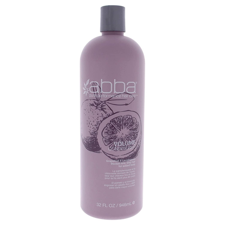 ABBA Volumizing Conditioner, GrapeFruit & LemonGrass, 32 Fl Oz