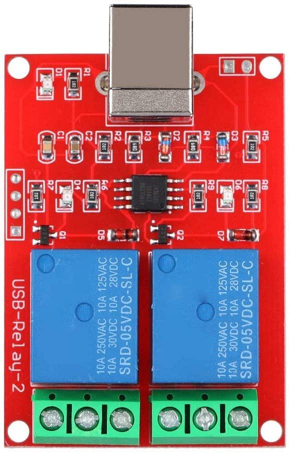 Diyeeni USB Switch Module 2-Channel 5V Computer USB Smart Switch Controller PC Relay Drive Module Expansion Board Relay Module PC Relay Switch