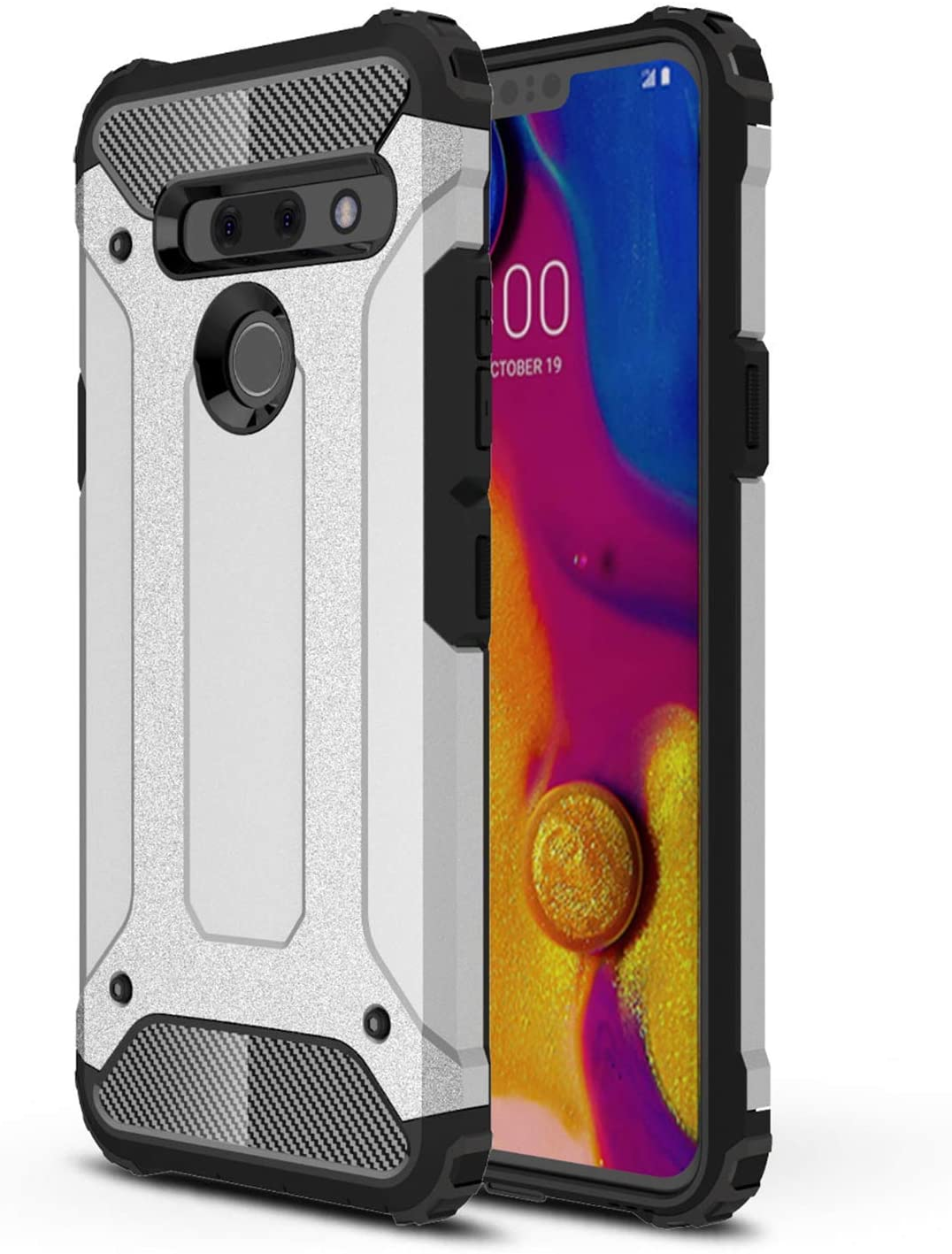Vultic Armor LG G6 Case, Heavy Duty Durable Hard [Drop Protection] Bumper Cover for LG G6 (Grey)