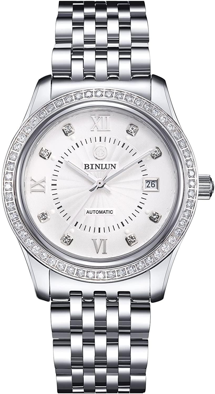 BINLUN 18K Gold Men's Wrist Watch Tourbillon Mechanical Automatic Watches Waterproof Gift for Family Friend
