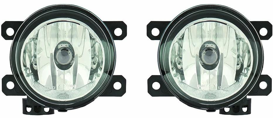 For Jeep Renegade 2015-2017 Driver and Passenger Side Foglight Assembly R=L Pair(DOT Certified)