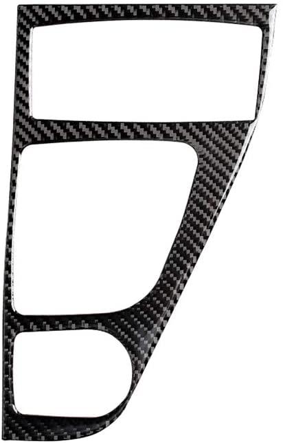 Carbon Fiber Left Hand Drive Gear Shift Panel Sticker, MoreChioce Car Interior Decor Accessories Fit for Infiniti Q50 2014-2020