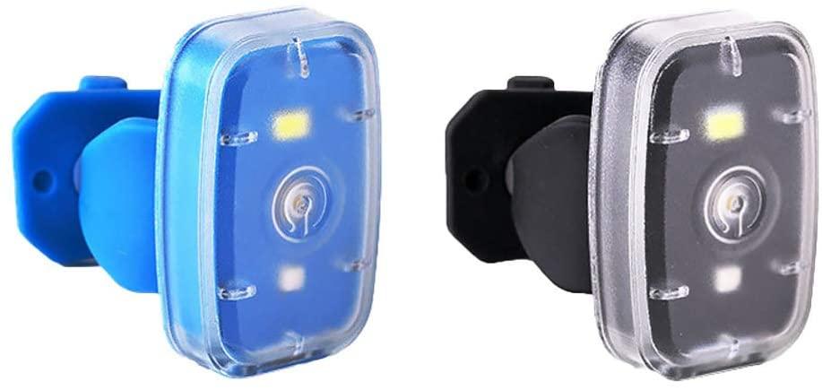 BESPORTBLE 2 Pcs Outdoor Night Running Light Bike Tail Light LED Safety Light USB Rechargeable Running Light for Runners Cycling Dog Collar Bike (Random Color)