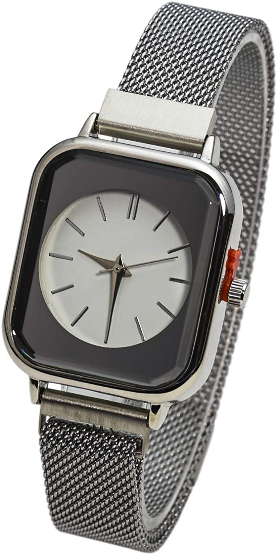 Blekon Collections Analog Quartz Women's 30mm Alloy Case Elegant Metal Magnetic Mesh Band Watch