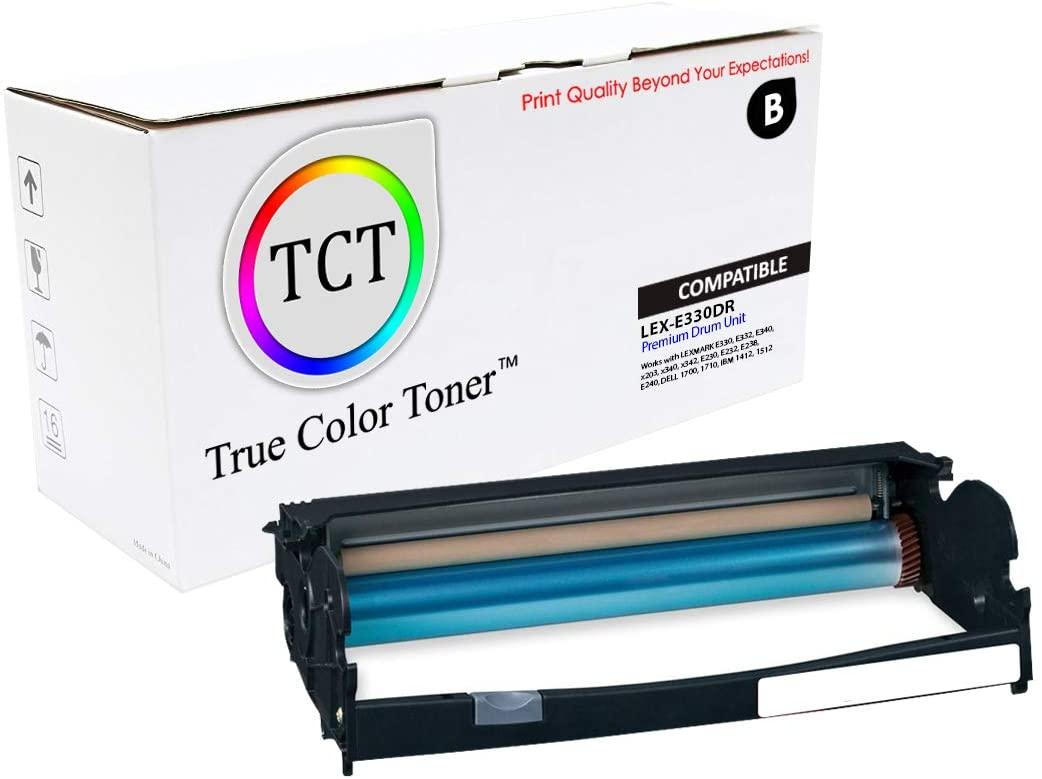 True Color Toner Compatible Lexmark 12A8302 Drum Unit Replacement for Lexmark E330 E332 E340, X203 X340 X342, E230 E232 E238 E240, Dell 1700 1710, IBM 1412 1512 Printers (2,000 Pages)