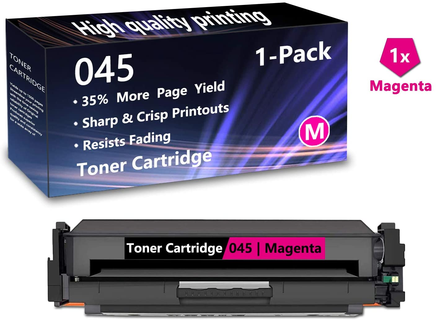 1 Pack (1 Magenta) Cartridge 045 Toner Cartridge Replacement for Canon Color imageCLASS Pro MF631Cn, MF633Cdw, MF634Cdw, MF635Cx,Pro i-SENSYS LBP613Cdw, MF635Cx Printers, Sold by AlToner.