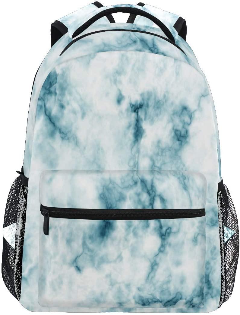 Marble Backpacks Travel Laptop Daypack School Bags for Teens Men Women