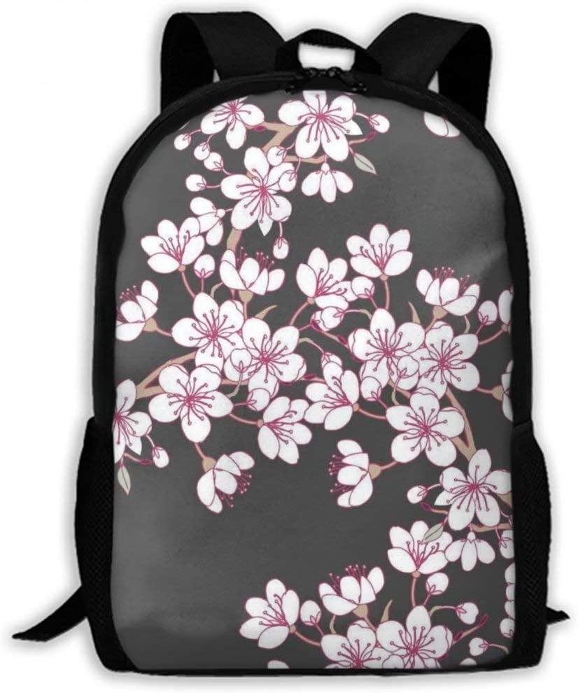 NiYoung Men Women Teens Big Capacity Travel Laptop Backpack Durable Water Resistant College School Bookbag Business Computer Bag, Cherry Blossom