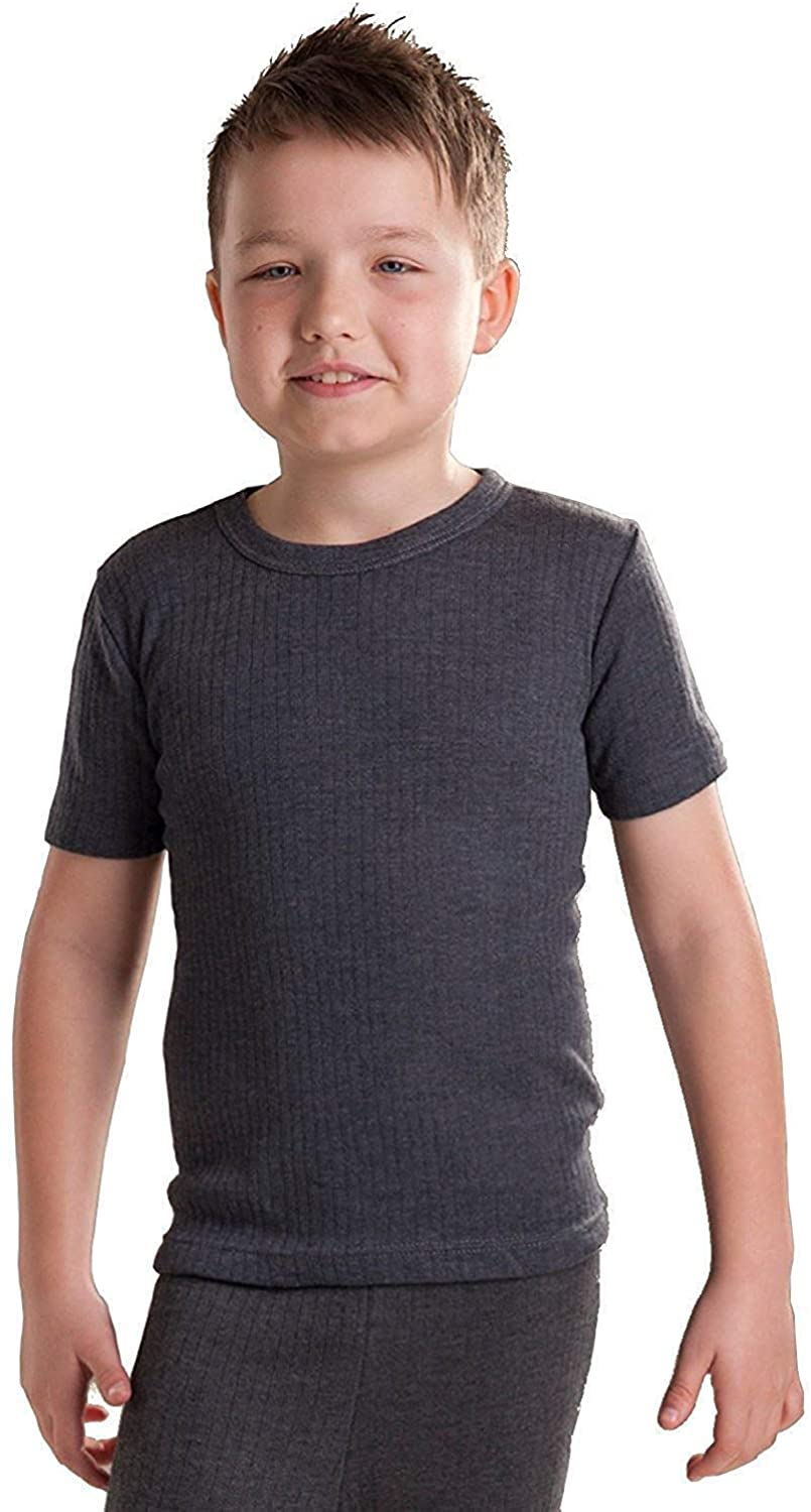 Octave 12 Pack Boys Thermal Underwear Short Sleeve T-Shirt/Vest/Top