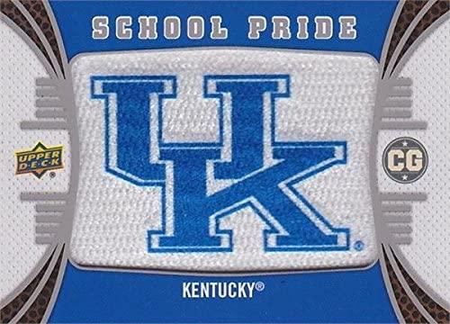Kentucky Wildcats School Pride Logo Patch Football Card 2014 Upper Deck Conference Greats #P-12