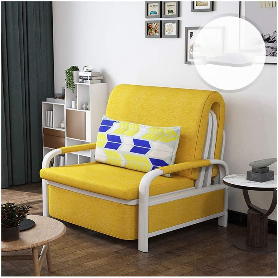 DYYD Fouton Couches Futon Bed Modern and Simple Folding Sofa Bed, Daybed with Mattress Included, Couch Beds for Living Room (Color : 80cm)