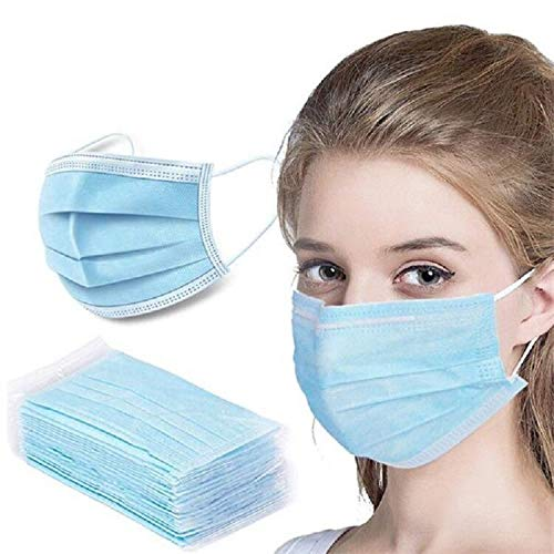 Disposable Face Masks,Breathable 3-Ply Protective face masks,Comfortable Nose Wire,Elastice Earloop 3-Layers For Adults And Teens,(2000PCS,Navy Blue)