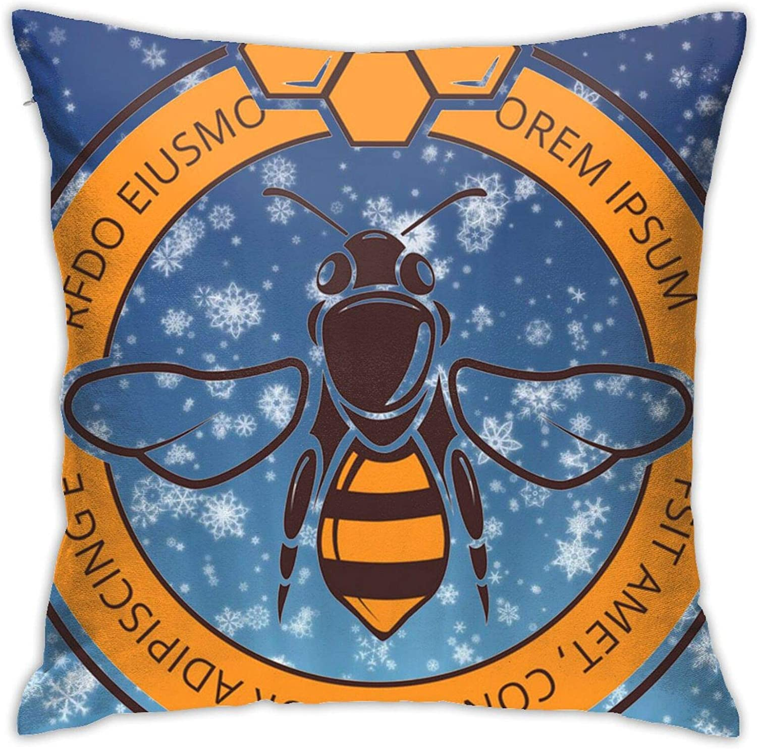 Honey-Bee Home Decoration Comfortable Double-Sided Printing Sofa Cushion Office Pillow Bed Back Car Waist Cushion Pillow Core Pillow Waist Pillow