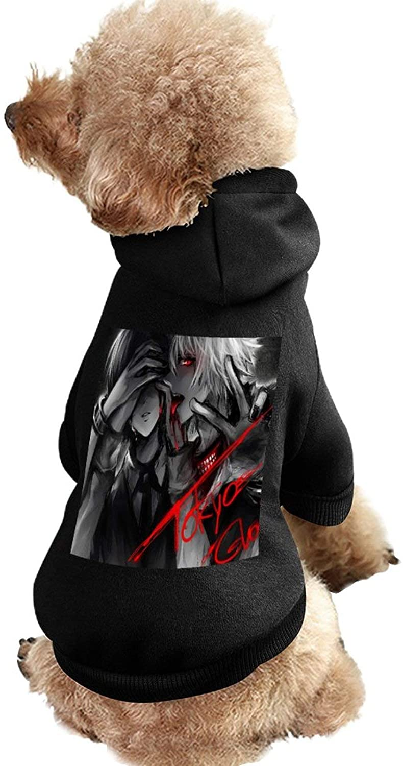 MissYo Tokyo Ghoul Dog Coat with Hat Funny Costume Winter Soft Dog Jumpsuit Pet Sweater Coat