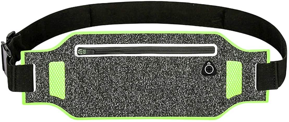 Binvor Running Waist Pouch Belt Workout Fanny Pack Bag Adjustable Reflective Exercise Free Jogging Pocket Belt Travel Money Cell Phone Holder for Men and Women