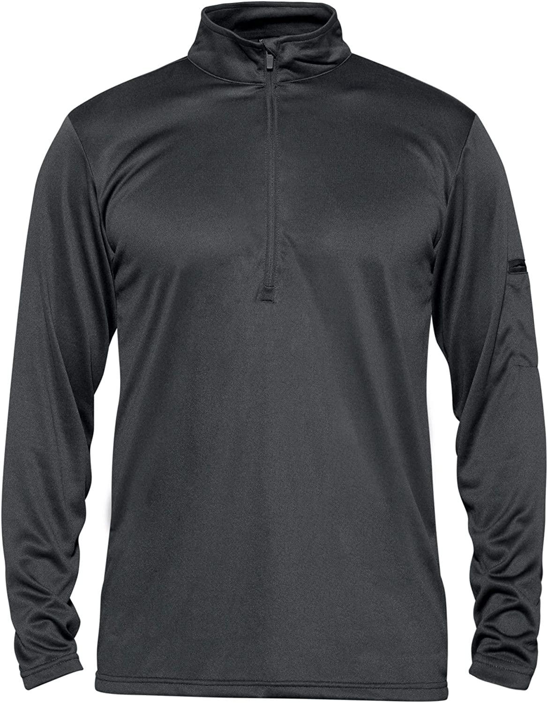 CRYSULLY Men's Military Tactical Polo Shirts 1/2 Zip Pullover Long Sleeve Shirts