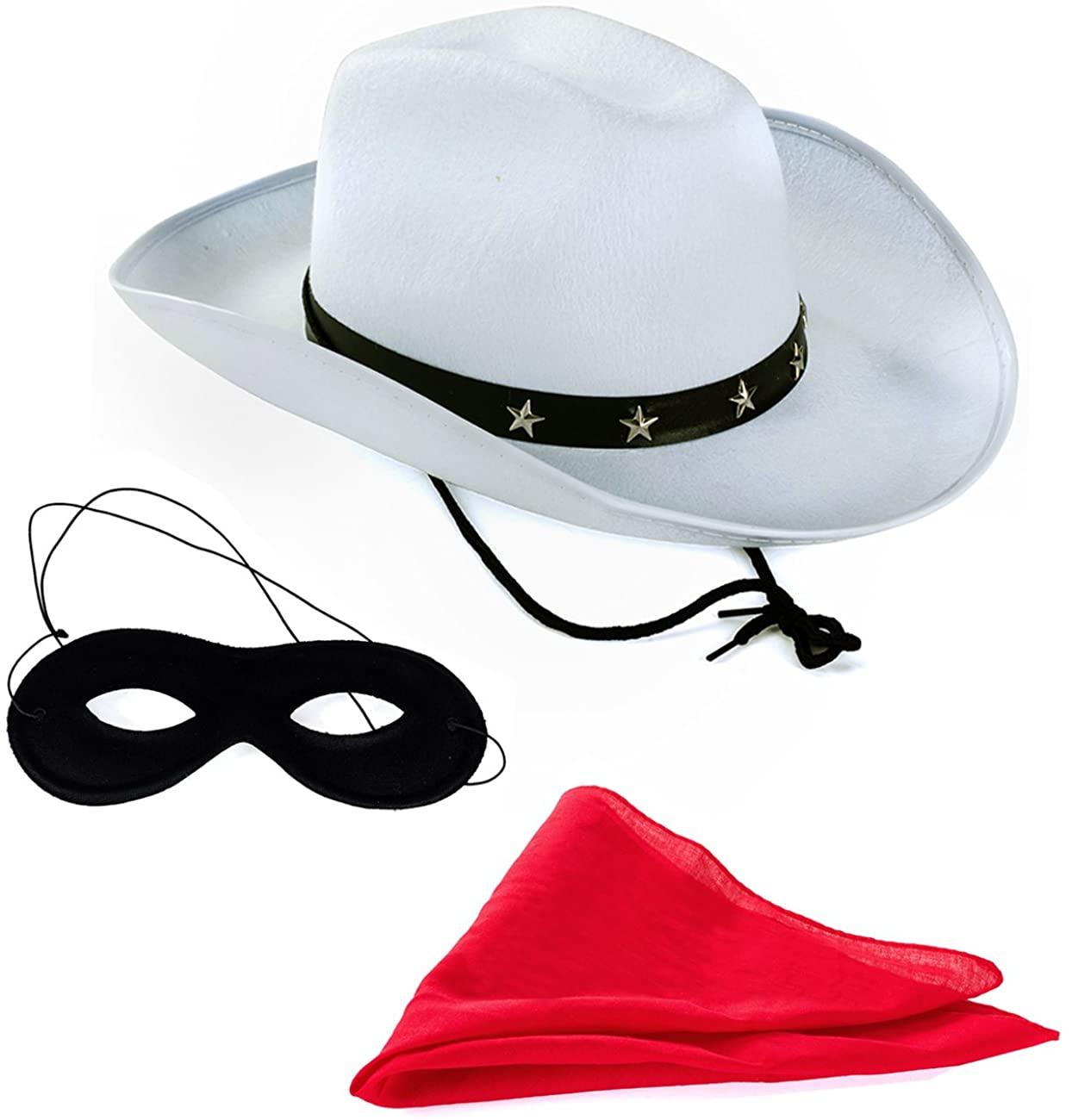 Tigerdoe Texas Ranger – 3 Pc Set - Masked Ranger - Western Costume - Wild West Costumes White