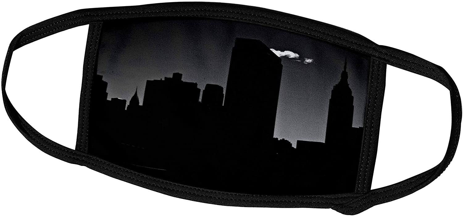 3dRose Silhouette of Midtown Manhattan with Empire State and Chrysler. - Face Covers (fc_219756_3)