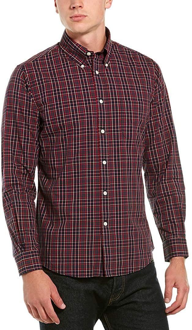 Brooks Brothers Men's Regent FIT Plaid RED,Green,Black L/S Button Down Sport Shirt Size Medium