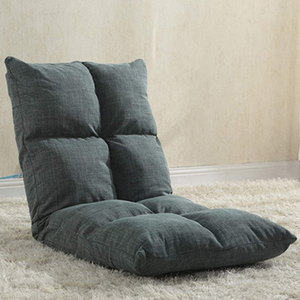 BH Lazy Sofa Folding Single Small Apartment Bedroom Small Sofa Bed Chair Small Bean Bag Cute seat (Color: I)