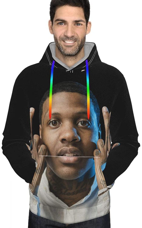 XiteSima Lil Durk Mens Pullover Hoodie Sweatshirts Shirts Hooded Sweatshirt Hoodies for Men Boys Clothes Outdoor