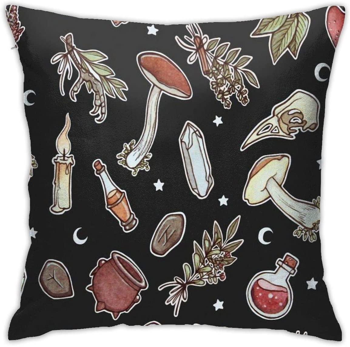 Witchy Pattern Dark Pillowcases, Floor Pillowcases, Pillowcases, Sofa Cushions, Cushion Covers, Backrest Covers, Car Cushion Interiors