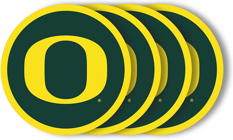 NCAA Oregon Ducks Vinyl Coaster Set (Pack of 4)