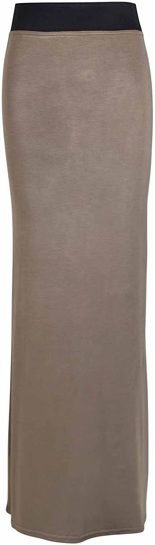 Purple Hanger Womens Elastic Waist Long Maxi Dress Plus Size Light Brown 14