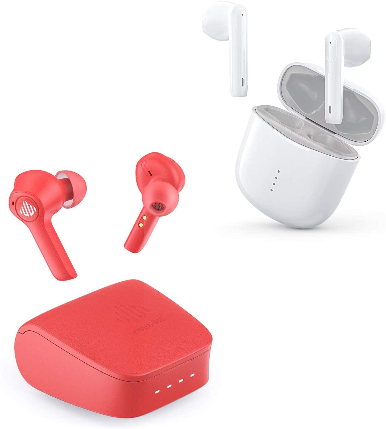 ENACFIRE G20 Red Wireless Earbuds + ENACFIRE T1 Wireless Earbuds