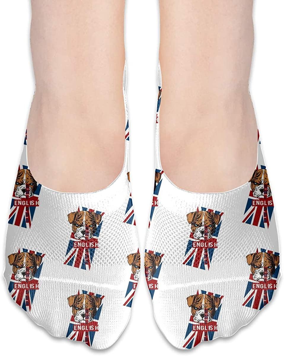 English Bulldog Puppy No-Show Socks Outdoor Women Men Ankle Sock For Yoga