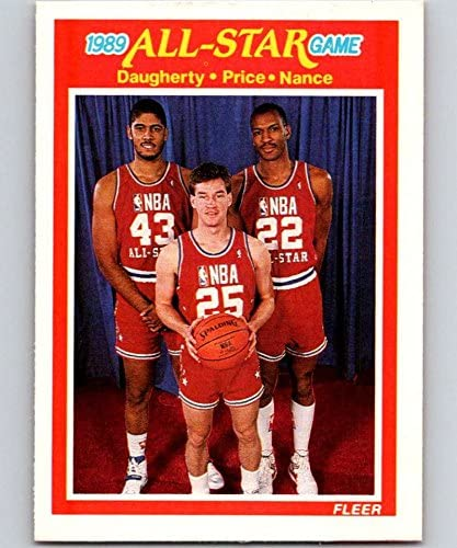 1989-90 Fleer #166 Brad Daugherty/Mark Price/Larry Nance AS NBA Baseketball
