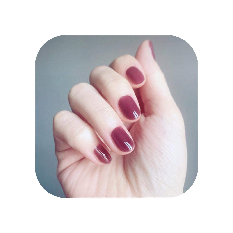 Matte False Nails| 24 Pieces False Nail Full Cover Fake Nail Crystal Elegant Pink Gradient French Short Nails Ellipse Shape Short Fake Nail-Noble Deep Purple-
