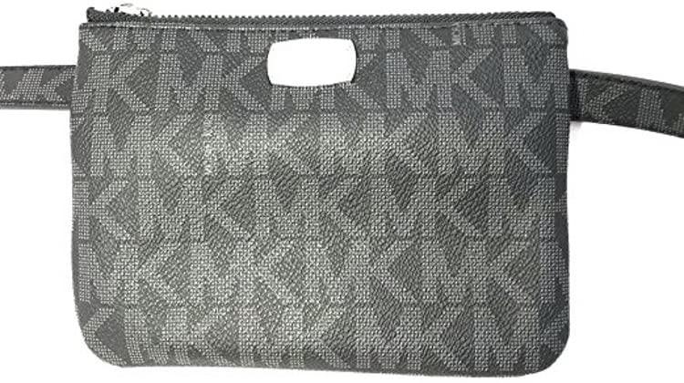 Michael Kors Signature Logo Fanny Pack Black/Grey Size M