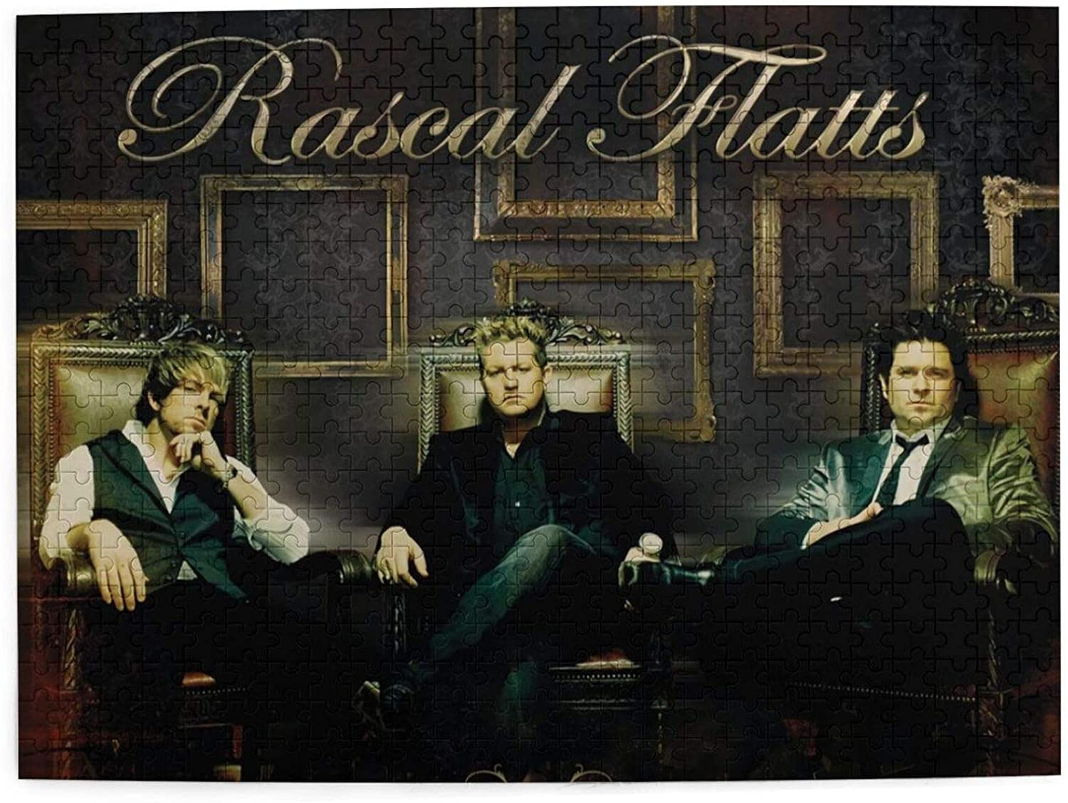 Vsldfjc Music Rascal Flatts Buffalo Games - 500 Piece Large Jigsaw Puzzle, Challenging Puzzle Game, Wooden Puzzles for Adults and Teens 20.4 x 15 Inches