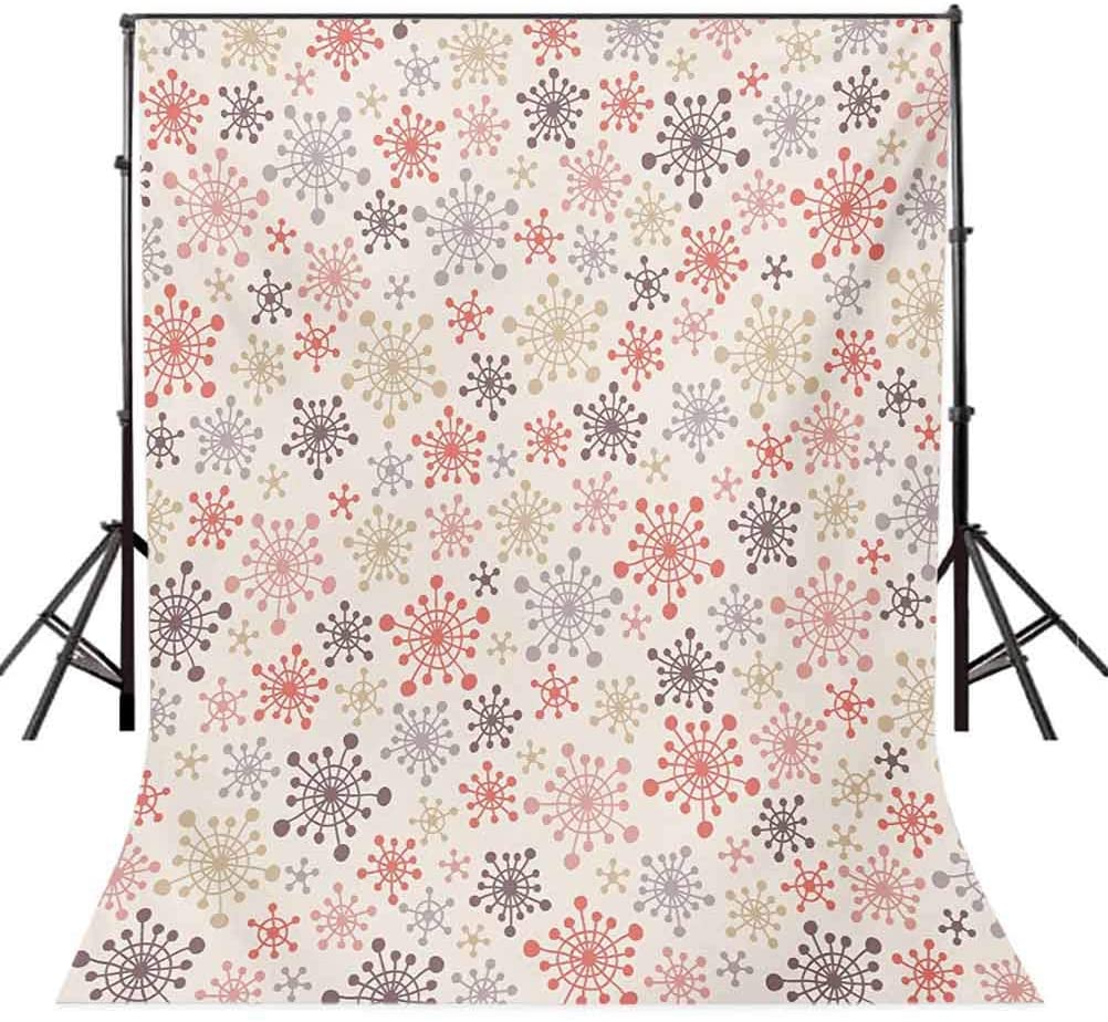 Winter 8x10 FT Photography Backdrop, Childhood Themed Cute Pattern with Pale Colored Doodle Figures Snowfall Retro Xmas Background for Photography Kids Adult Photo Booth Video Shoot Vinyl Studio Props