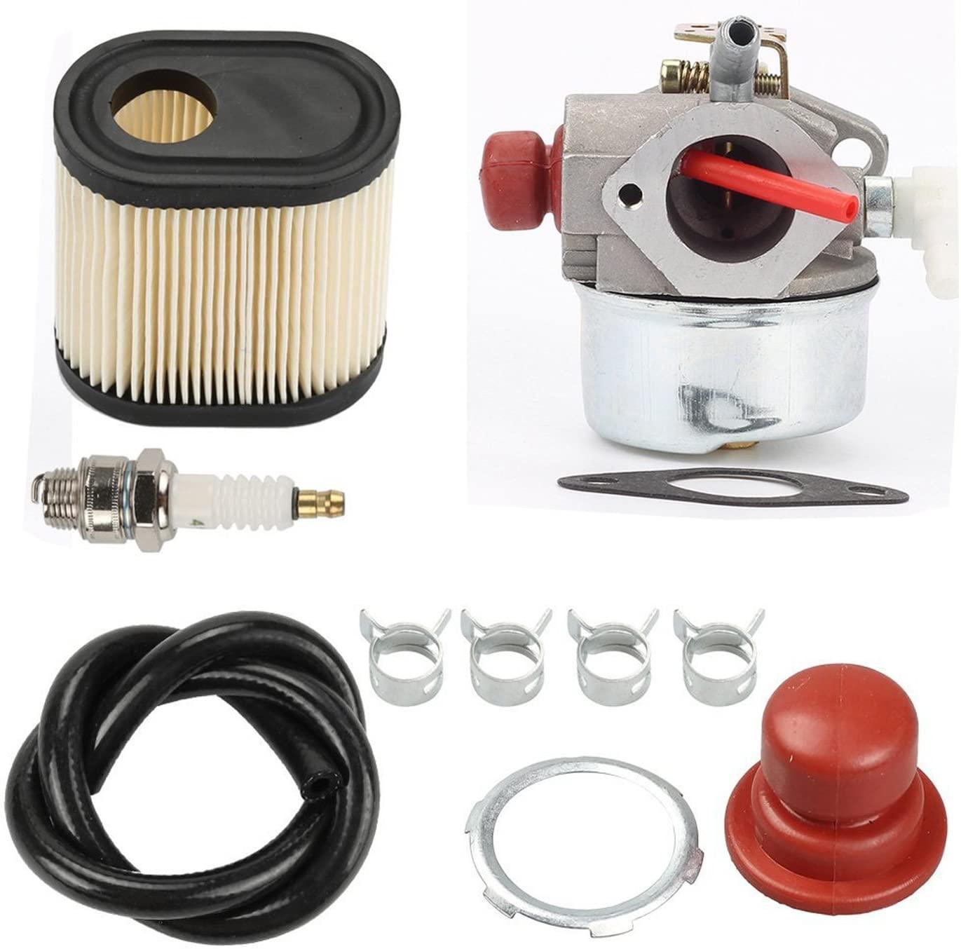 HIFROM Carburetor with 36905 Air Filter Spark Plug & Gasket for Tecumseh LEV100 LEV105 LEV120 LV195EA LV195XA Toro Recycler Lawnmowers 20016 20017 20018 6 6.25 6.5 6.75 HP Engines