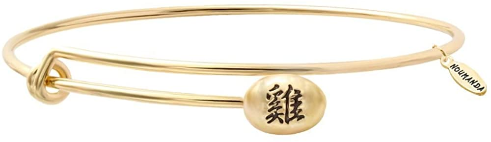 NOUMANDA 12 Chinese Zodiac Top Popular Expandable Wire Bangles Gold