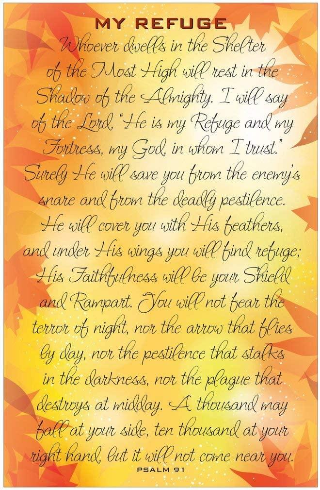 Psalm 91 Corona Virus Psalm Inspirational Christian Poster-J91