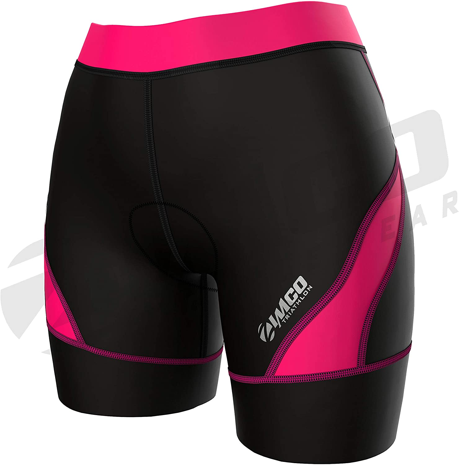 Zimco Core Tri Shorts Women | Triathlon Shorts Women | Womens Triathlon Short | Women's 8-Inch Triathlon Bike Short Padded