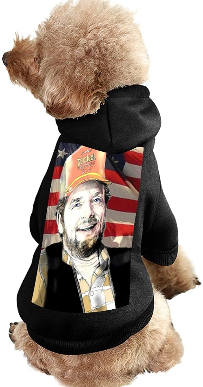 MissYo Merle Haggard Dog Coat with Hat Funny Costume Winter Soft Dog Jumpsuit Pet Sweater Coat