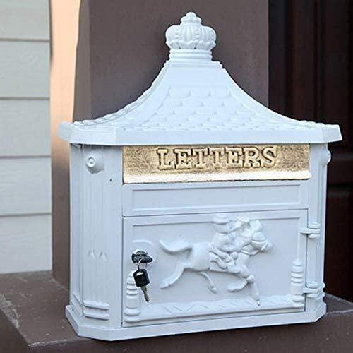 Aoyo Mailbox Retro Outdoor Wall Mounted European Villa Rainproof Waterproof Mailbox Creative Home Letter Box
