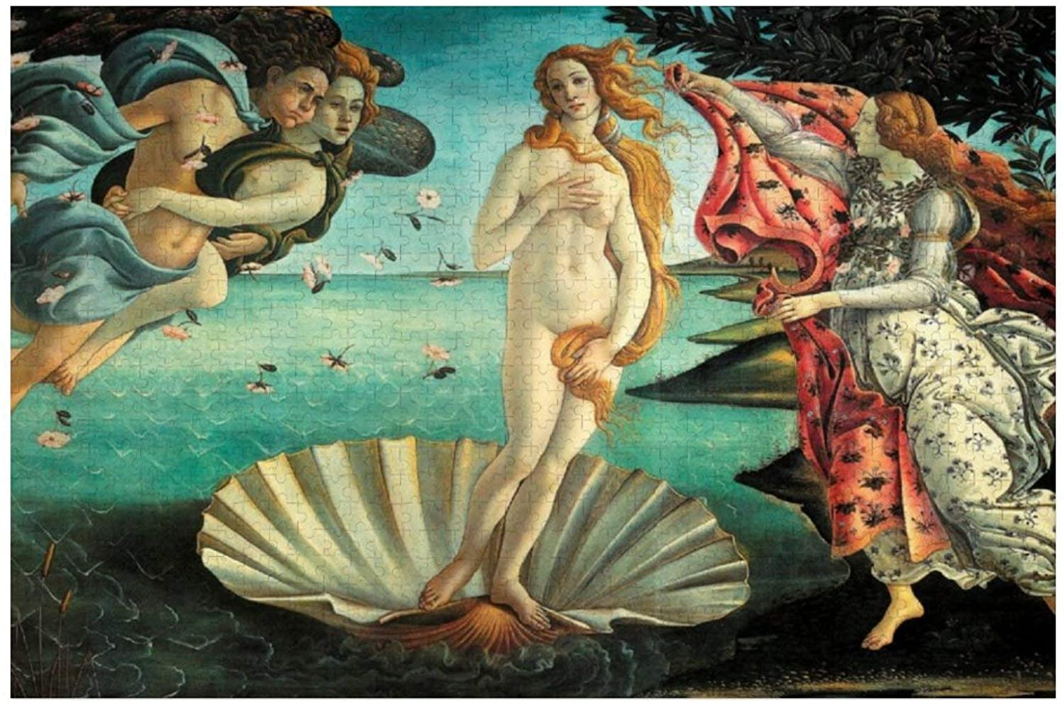 The Birth of Venus Classic Art by Botticelli Puzzles for Adults, 1000 Piece Kids Jigsaw Puzzles Game Toys Gift for Children Boys and Girls, 20 x 30