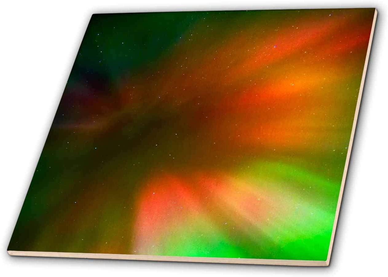 3dRose Canada, Manitoba, Winnipeg. Aurora borealis and stars. - Tiles (ct_329748_1)