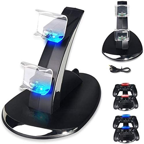 S-Electronic-Store - PS4 / PS4 Slim / PS4 Pro Controller Charger, PS4 Charging Station Stand for PlayStation 4 Controller